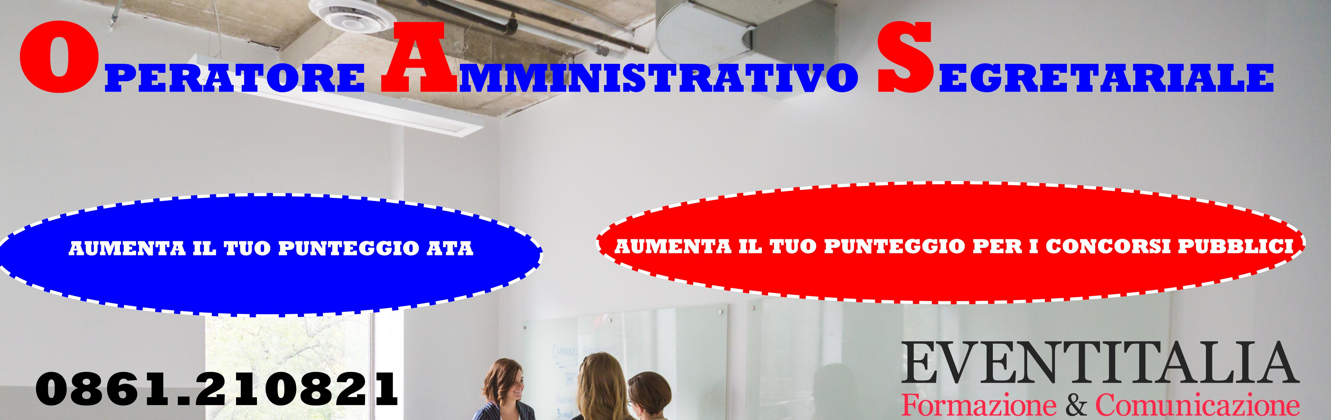 OPERATORE AMMINISTRATIVO SEGRETARIALE